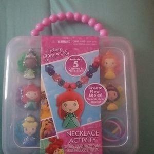 Disney princess necklace activity set